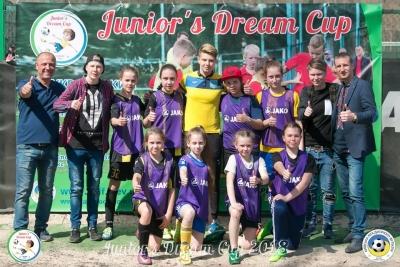 Дівчата Броварії у складі команди ФАЖ на Junior's Dream Cup 2018
