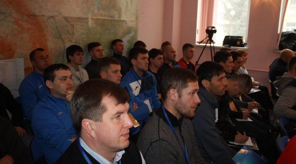 Максим Кутаков та Олександр Бабак на Всеукраїнському футбольному форумі 2018 року